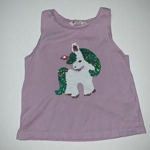 H&M Girl's Unicorn Tank Top, Size 4-6